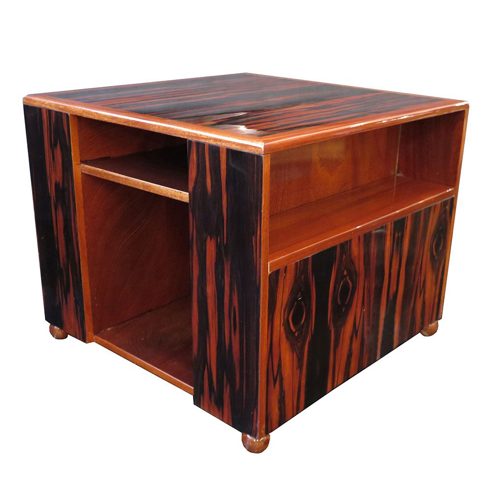 Art Deco square coffee table or side table in Macassar