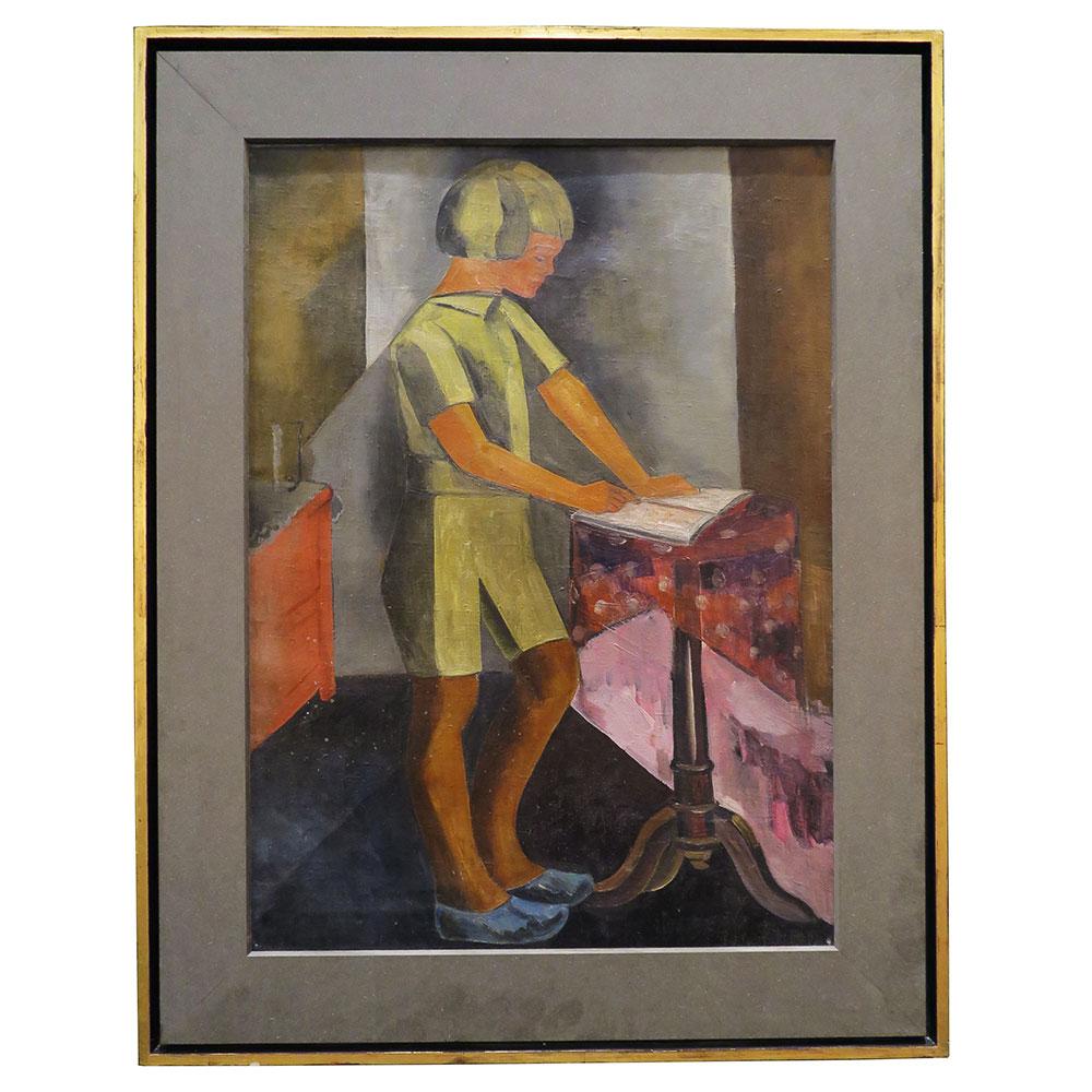 vintage painting of dutch boy