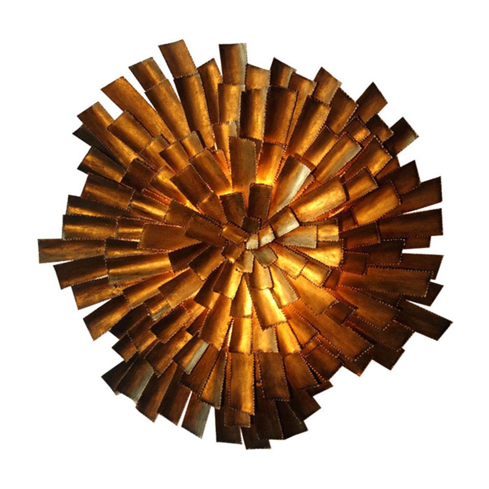 wall sconce in starburst brass