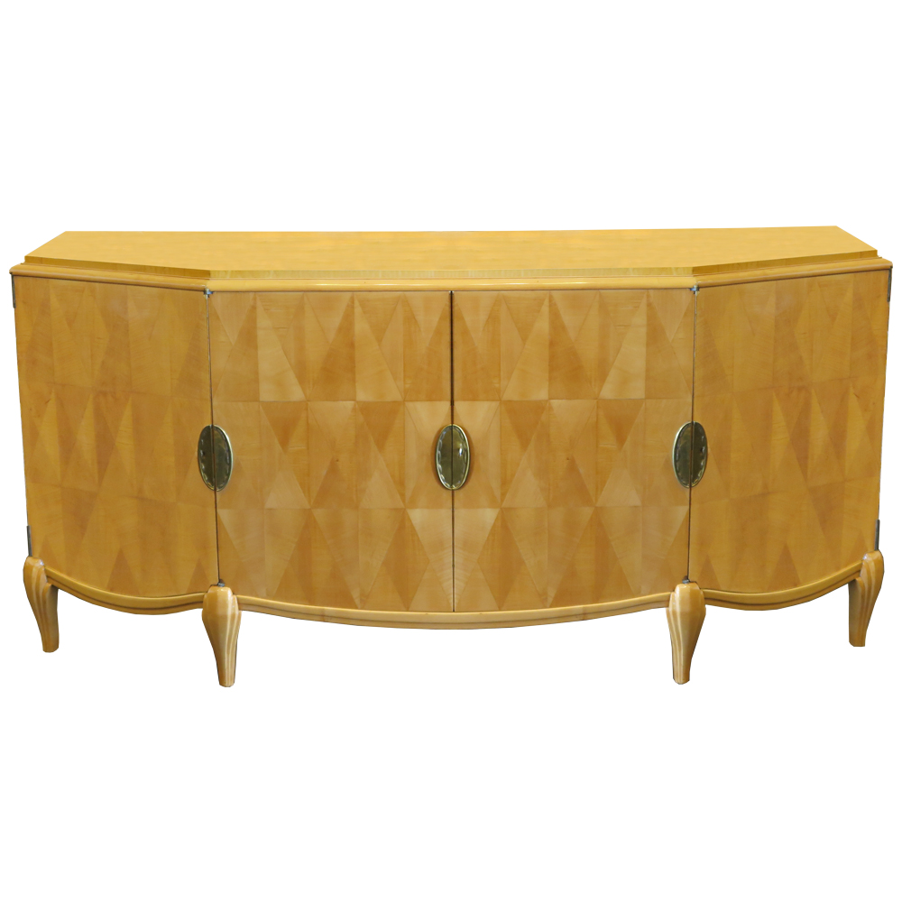 french art deco sideboard in sycamore