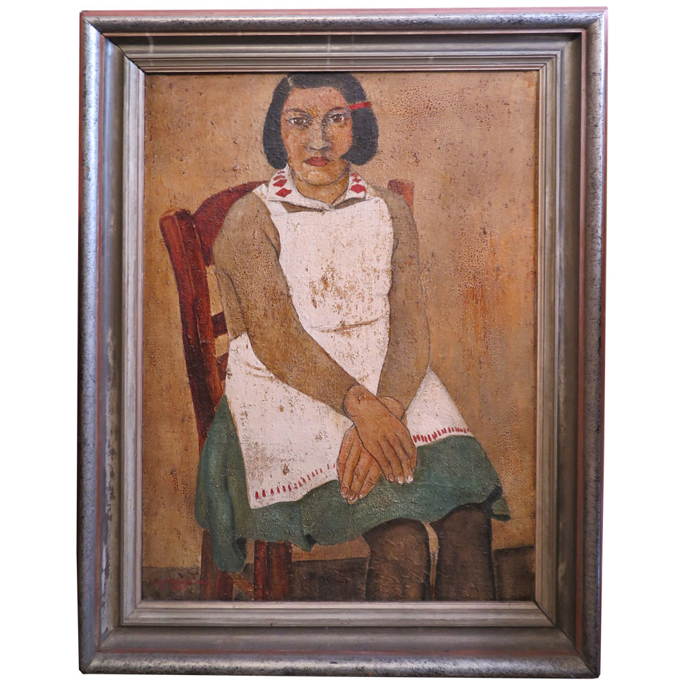 Portrait painting of Mexican woman