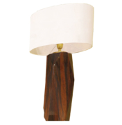 modern wooden table lamp in Macassar high gloss