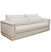 Modern sofa with metal inlays