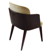 modern dining chair with macassar wood back