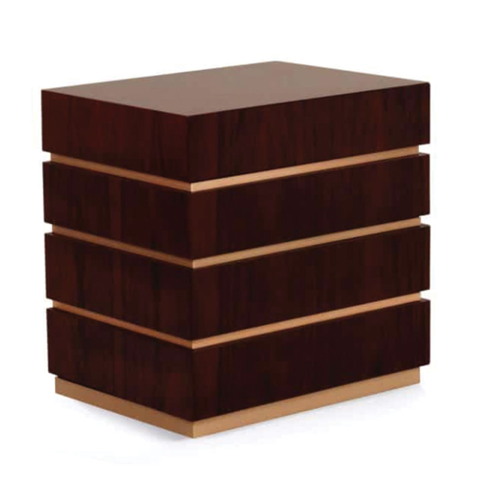 modern bedside table nightstand in wood and lacquer