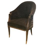 Delicate Art Deco desk chair in Macassar