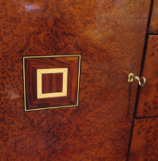 Burl sideboard commode cabinet door detail