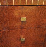 Burl cabinet dresser drawer front detail