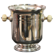 Art Deco silver and bone ice and champagne bucket