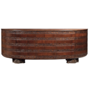 Mid-century Italian wooden sideboard with vines and grapes