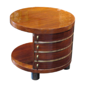 Art Deco side table in rosewood with small drawers