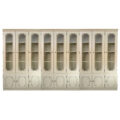 French country large bookcase, wall cabinet and kitchen glass vitrine