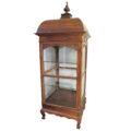 antique wooden glass vitrine