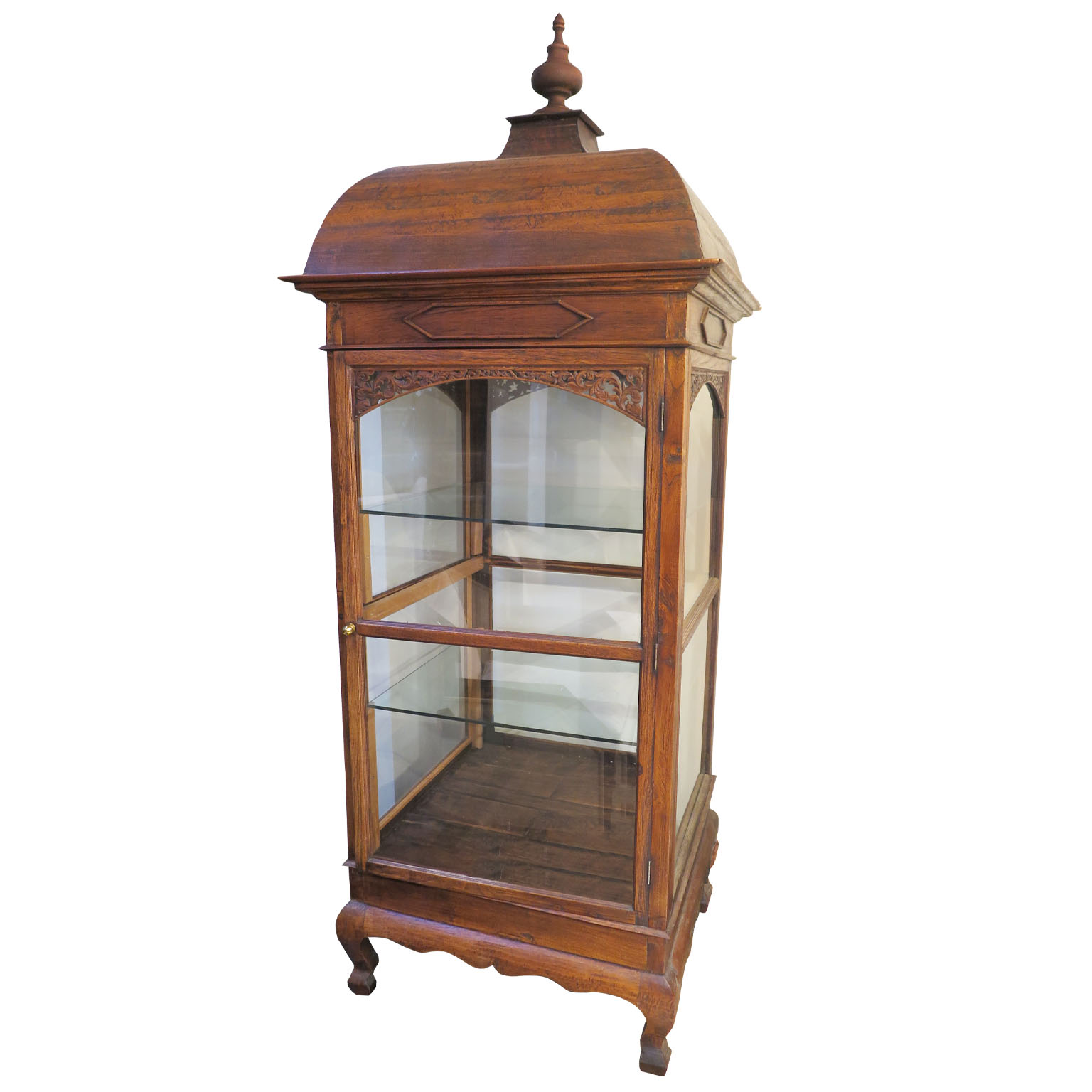antique wooden glass vitrine