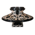 Black Lacquer planter with mother of pearl