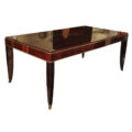 French Art Deco rosewood dining table by Fournier
