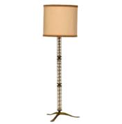 Italian Mid-Century Floor Lamp with Murano Glass