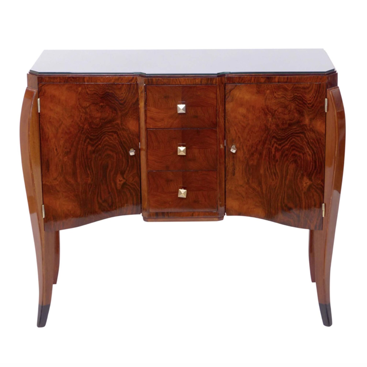 Rio Rosewood wood dresser with Mahogany details and curved legs