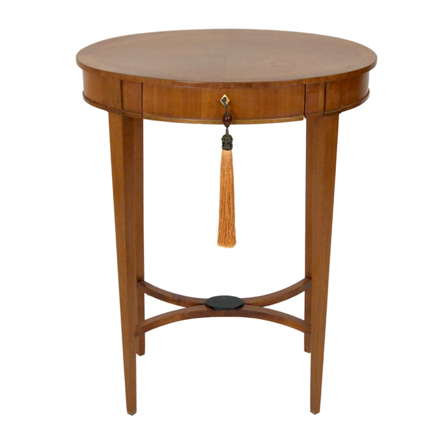 Antique Light brown cherry wood side table with drawer