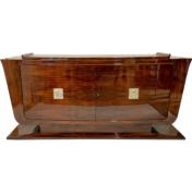 Art Deco sideboard in rosewood wood and nickel reliefs